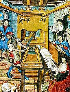 Imprenta europea del siglo XV.