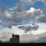Los cielos de enero en la ciudad